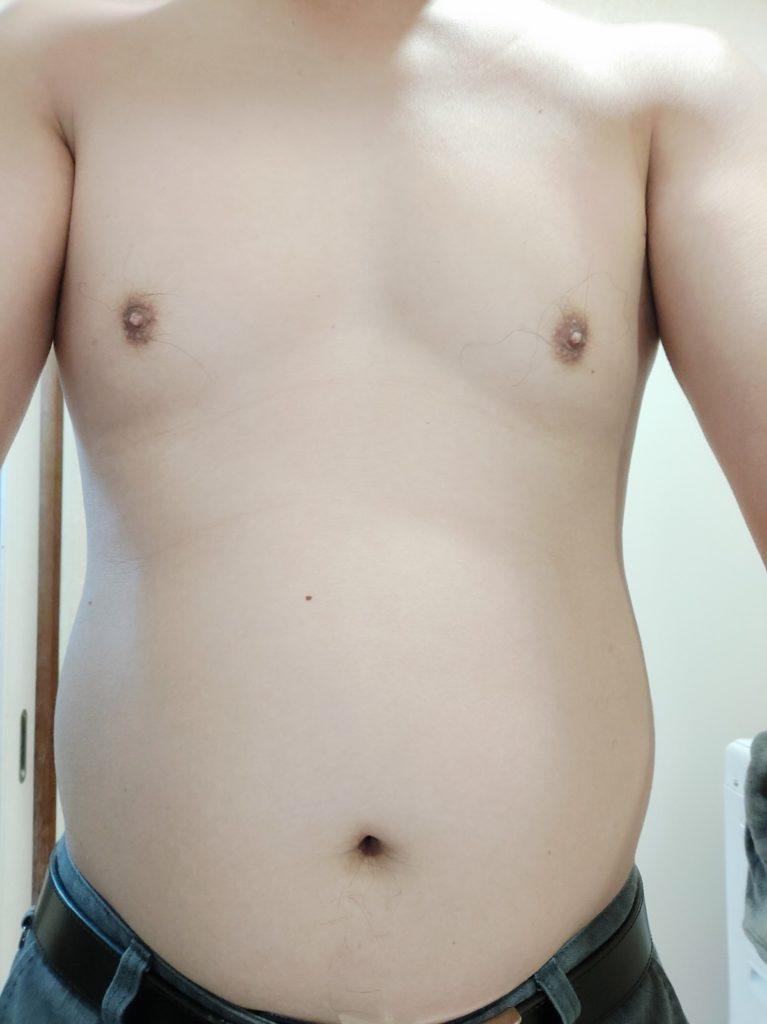 30代男性が筋トレダイエット_ぽっこりお腹対策‗12日目正面