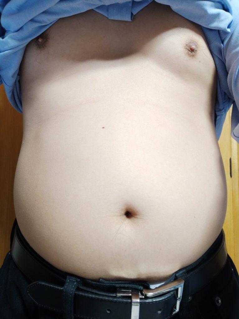30代男性が筋トレダイエット_ぽっこりお腹対策‗22日目正面
