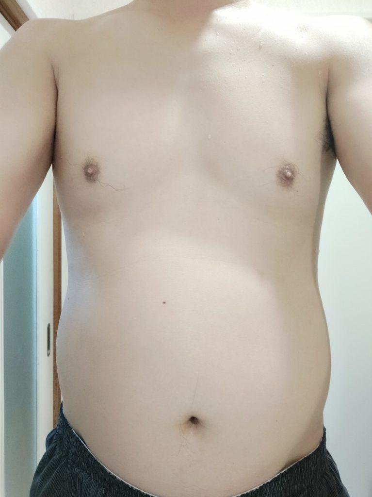 30代男性が筋トレダイエット_ぽっこりお腹対策‗26日目正面