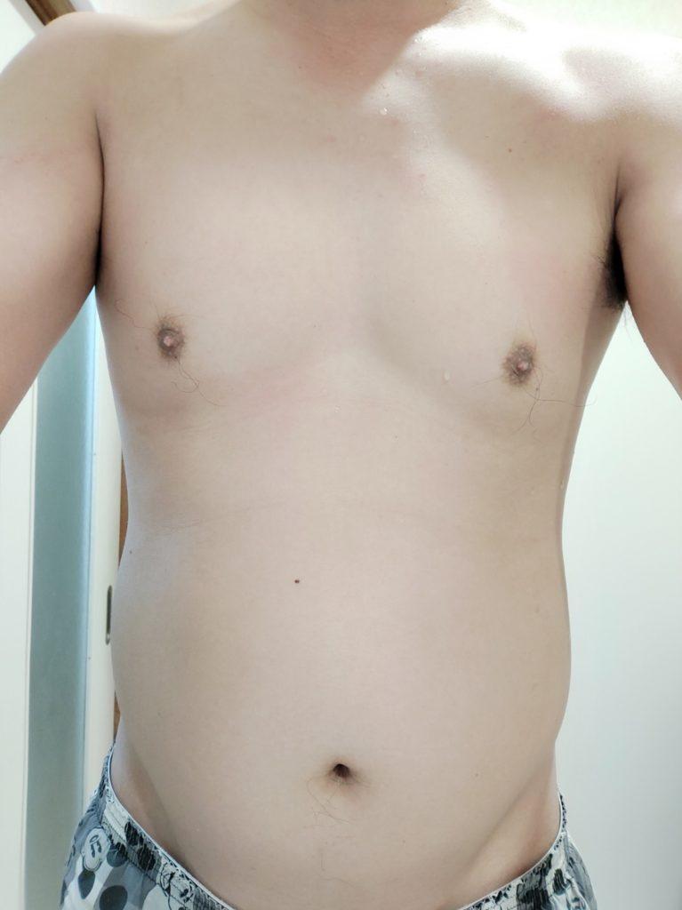30代男性が筋トレダイエット_ぽっこりお腹対策‗28日目正面